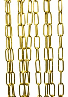 Lamp chain, Luxury Version, Brass