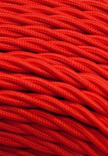Lamp Wire, Red, Braided