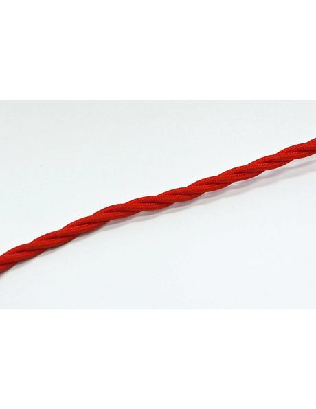 Rood Strijkijzer Snoer, gevlochten 3 aderige draad