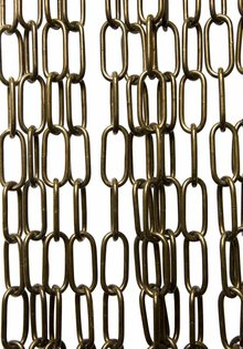 Lamp Chain , Antique Brass