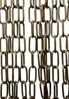 Lamp Chain , Antique Brass