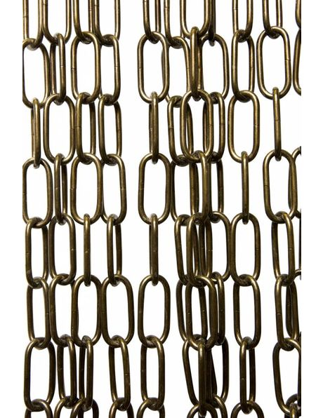 Lamp chain, big size links, patinated brass