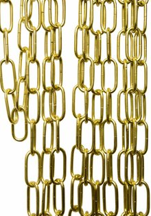 Brass Coated Lamp Chain, Solid