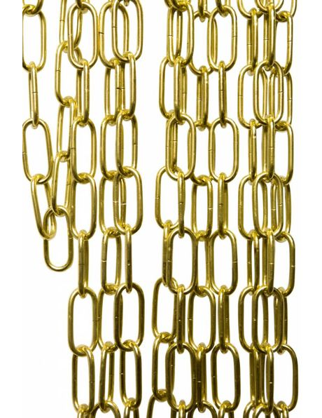 Brass finished Lamp Chain, colour: shiny gold, links: 5.5x2.5 cm / 2.2x1.0 in