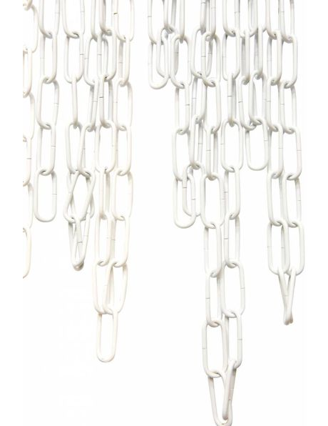 Witte ketting, gecoat, schakel-grootte: 2.0 x 4.8 cm