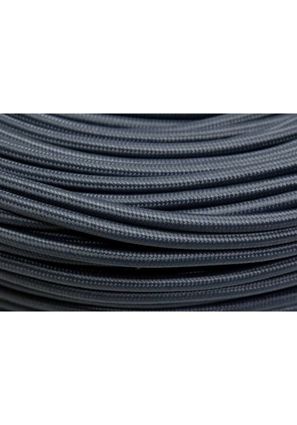 Lamp Wire, with Grey Textile Cover, For Lamps