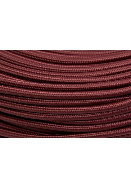 Lamp Wire, with Fabric Cover, Burgundy Red Colour