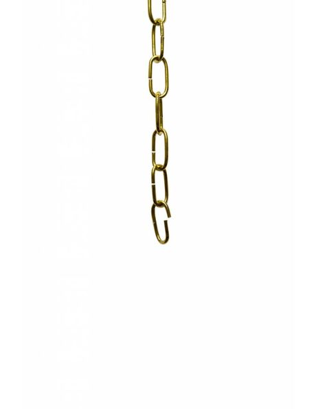 Lamp chain, small links, 2.2 x 1 cm / 0.87 X 0.39 inch, brass colour
