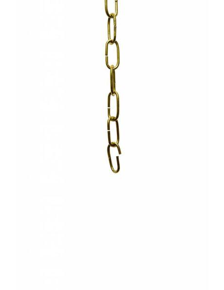 Lampketting, kleine schakels: 2.2 x 1 cm, messing kleur