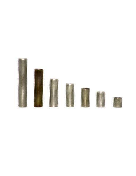 Draadeind, hol, 3 cm lang, schroefdraad x1, diameter 1 cm (M10), verzinkt