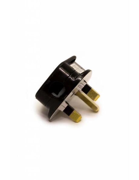 Stekker, Engels model, vervaardigd uit zwart kunststof