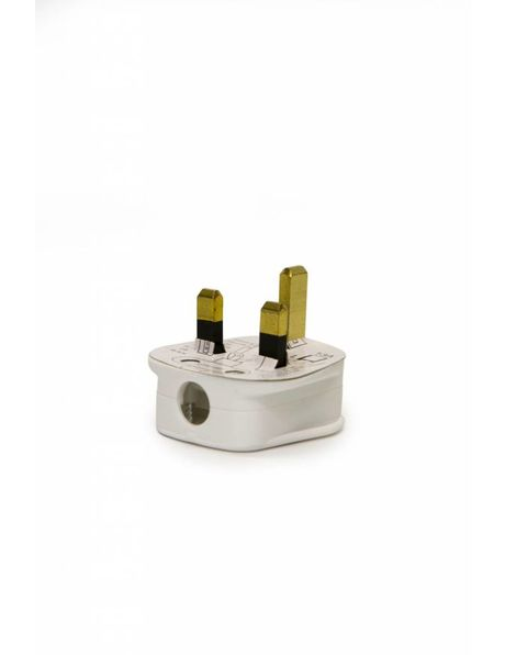 White British standard plug, plastic
