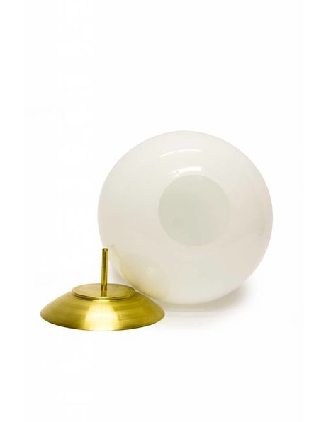 Round cover plate for glass lampshade, Brass