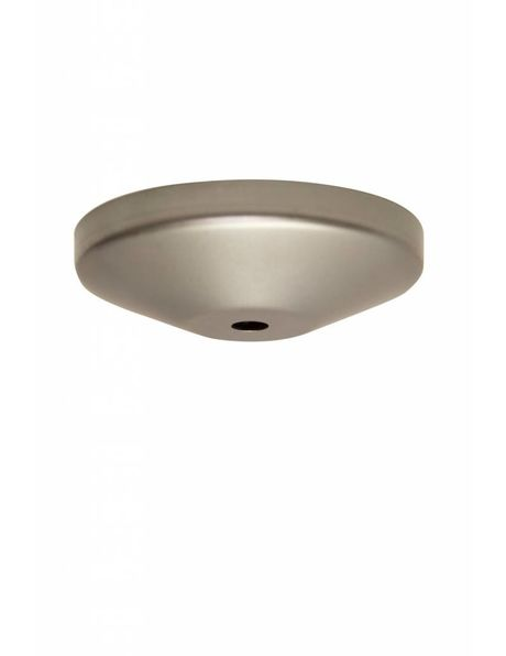 Uncoated Ceiling Cap, coarse iron, rather shallow, diameter: 9.9 cm / 3.9 inch, diameter rod opening: 1,0 cm  0.39 inch (M10)