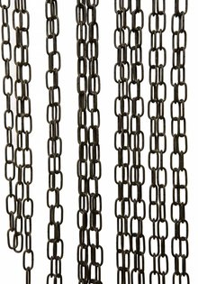 Lamp Chain, Antique Brown Coated