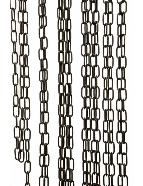 Chain for Lamp, antique brown coated metal, 2 x 1 cm / 0.4 x 0.8 inch