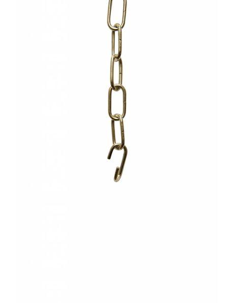 Lamp ketting, kleine schakels: 2 x 1 cm, chroom kleurig