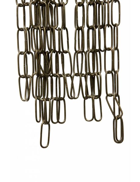 Lamp Chain, made of antique brown coloured metal, link 4.0x1.5 cm / 1.6x0.6 inch