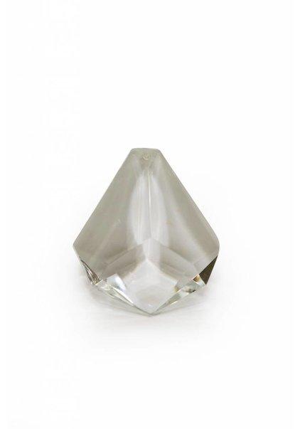 Driehoek kraal, kristal glaswerk