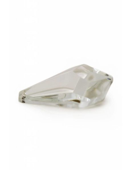 Oude kristallen kraal voor kroonlusters, driehoekige vorm met facetten