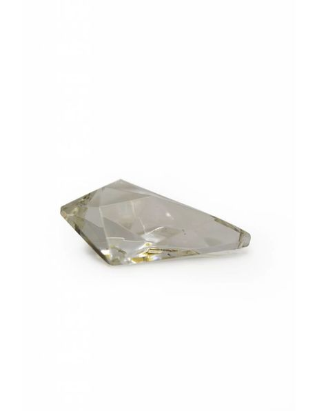 Chandelier bead, triangular model with facet cut surfaces