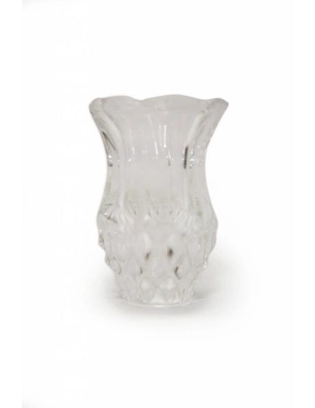 Chandelier vase, small model, clear processed glass
