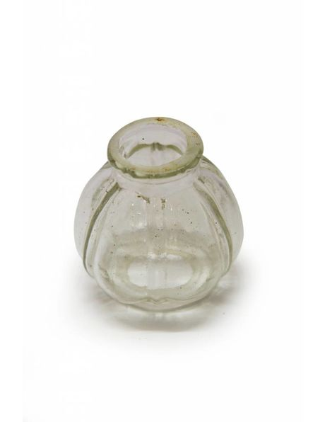 Chandelier vase, small clear glass sphere (ball)