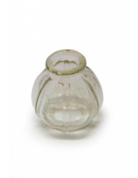 Kroonluchter vaasje, klein helder glazen bolletje