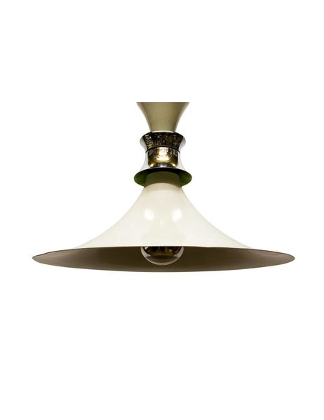 design pendant lamp from the 60s, witch's hat with light green accent
