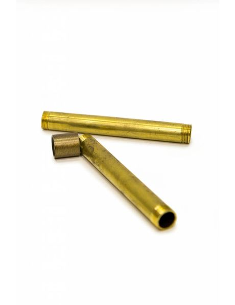 Polished Brass Tube Connector, M13x1