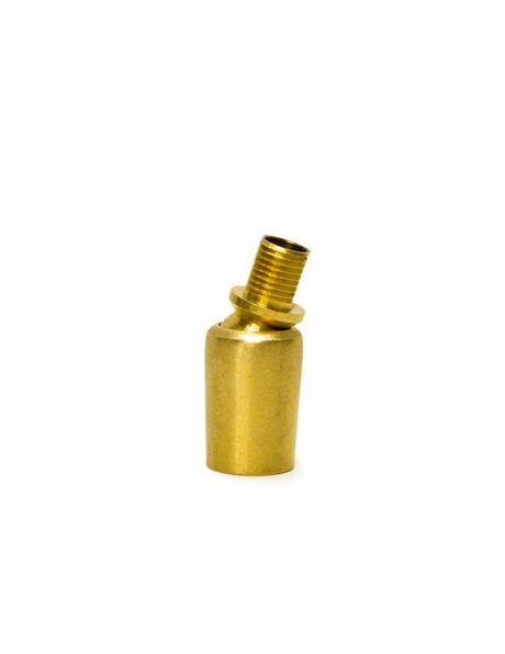 Brass ball joint (swing unit) , diameter: M10, one one side external screw thread, on the other side internal screw thread