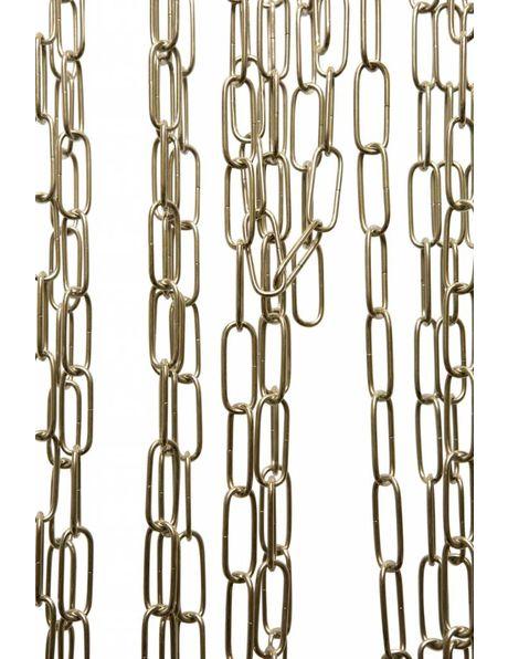 Lampenketting, grote schakels, chroom, 4 x 1,5 cm