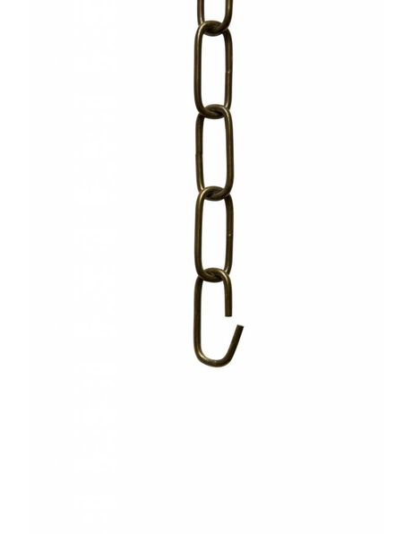 Ketting om lamp op te hangen, gebruineerd metaal, 4.6 x 2 cm