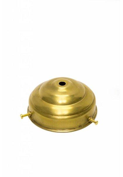 Glass Holder Brass, 'Turret' , 10 cm / 3.94 inch