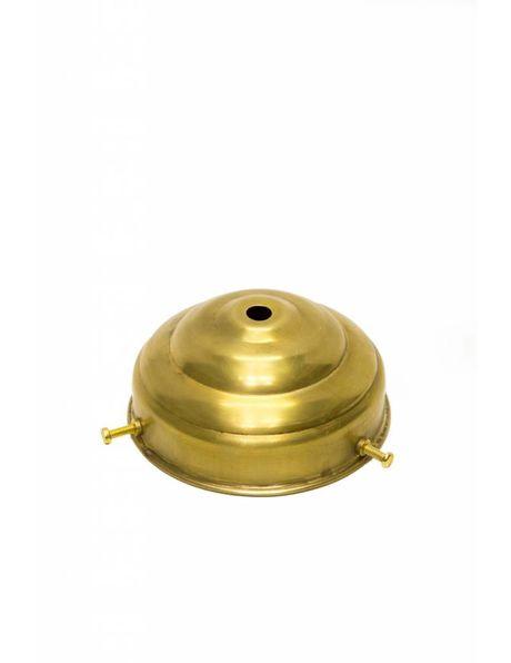 Goudkleurige glasdrager in de vorm van een torentje