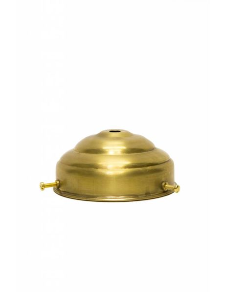 Gold-coloured lamp glass holder in the shape of a turret