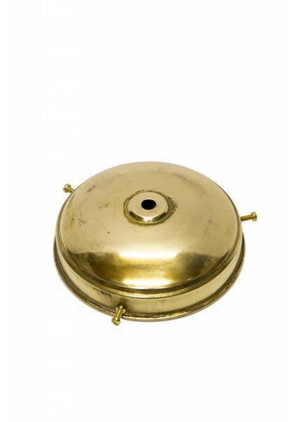 Lamp Glass Holder, Copper, 'Flat Sphere'