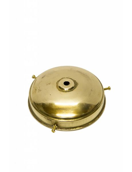 Gold Colour Lampshade Holder, Copper, Antique Model, Small Cap With 3 Screws