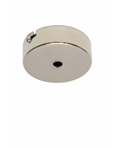 Plafondkapje of wandbevestigingsplaatje, diameter 8 cm, zilverkleurig, nikkel