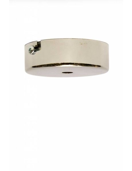 Ceiling Cap / Wall Plate, diameter 8 cm / 3.15 inch, silver coloured, nickel