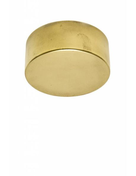 Ceiling Plate, round, without a hole, brass