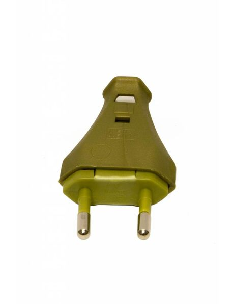 Euro electrical plug, gold colour, without earth wire. Easy to install