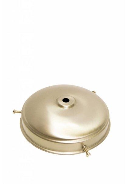 Lamp Shade Holder, Matt Nickel, Flat Sphere, 13 cm / 5.1 inch