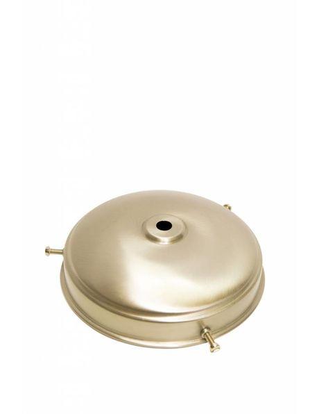 Glass holder: 13 cm / 5.1 inch, matt nickel in semi-round shape with 3 screws