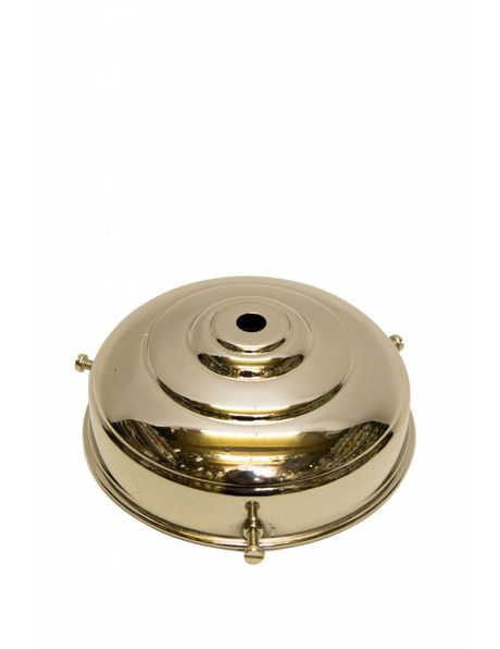 Nickel lamp glass holder, shiny version, antique model
