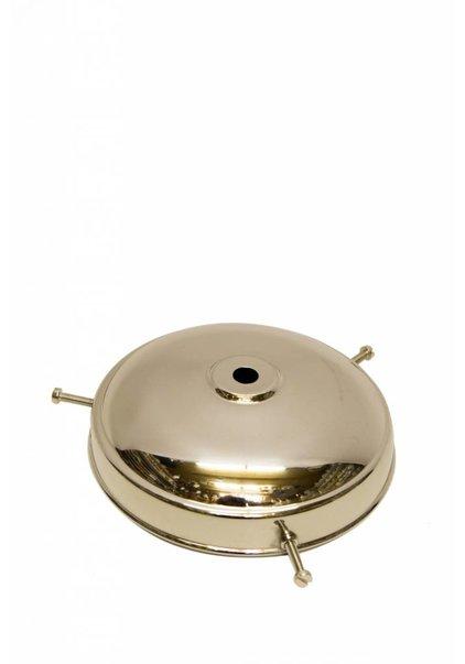 Lamp Shade Holder, Silver, Flat Sphere
