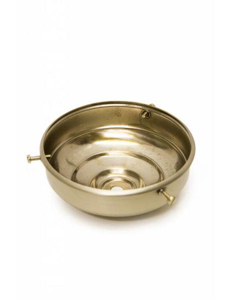 Glasdrager, mat nikkel, platte bol, 11 cm diameter