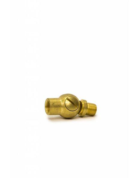 Brass swing unit, external / internal M10x1