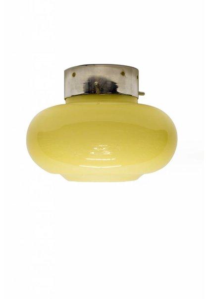 Oude Opaal Glazen Plafondlamp, 1930