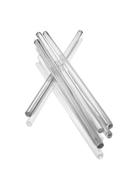 Chandelier stick, transparent, facets
